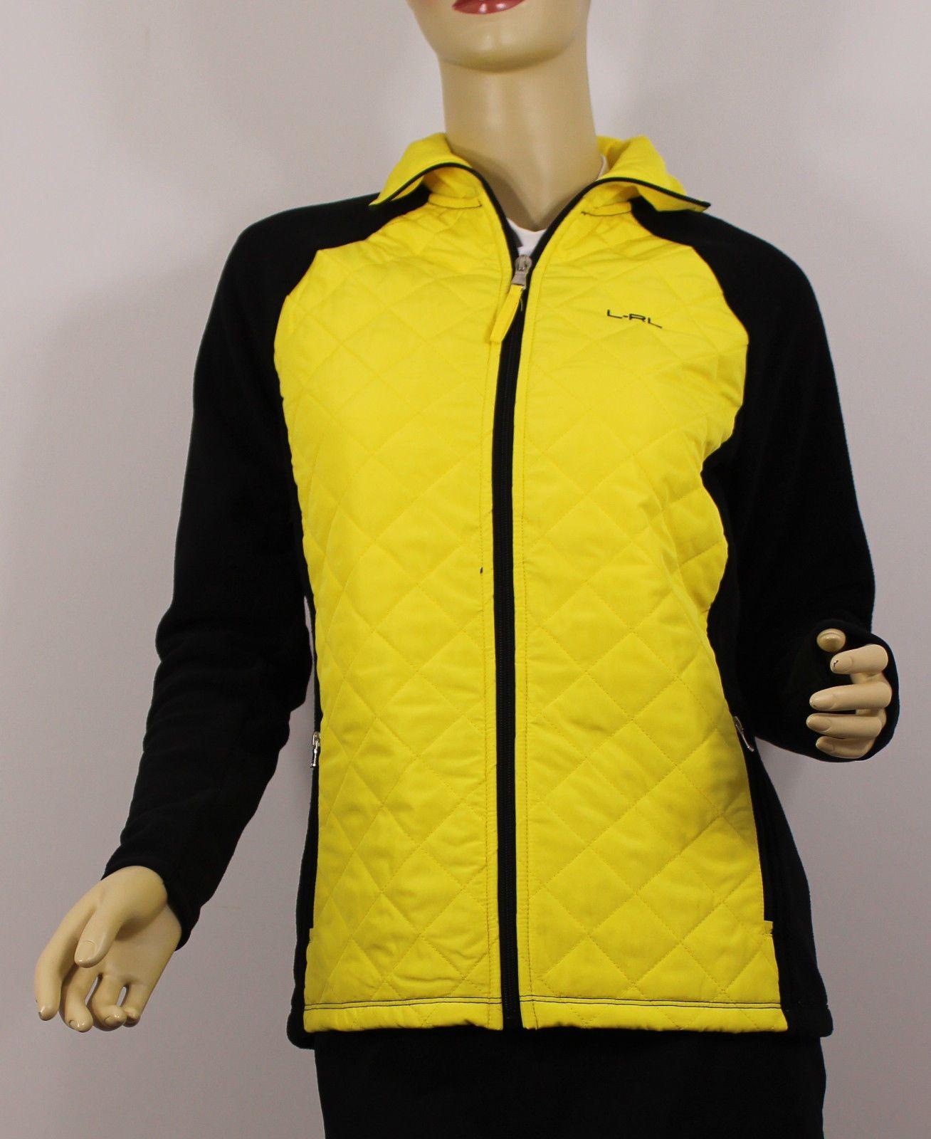 Jacket Puffer Quilted Womens Ralph Yellow Medium Lauren Coat Black ZnzxnEwUqS
