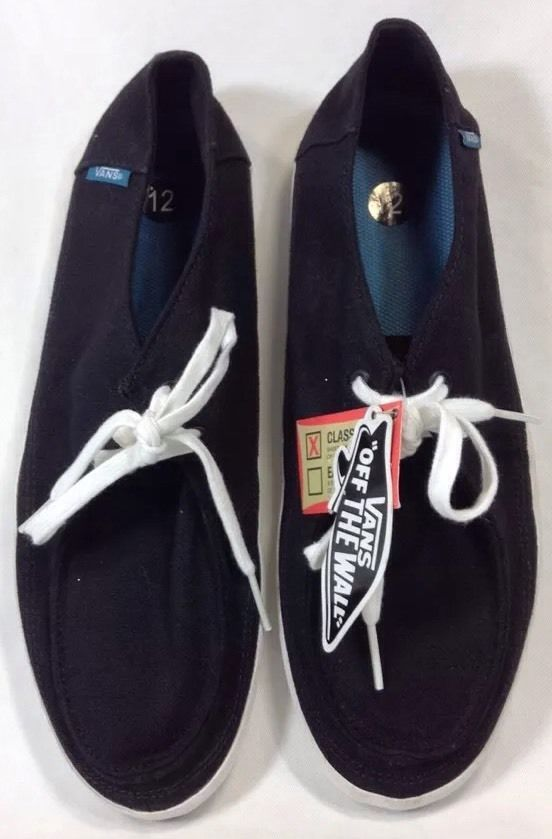 ea6a5ebe94 Vans Rata Vulc 12 Mens Surf Siders Hemp Skate Shoes Black Classic Fit  VANS   Skateboarding
