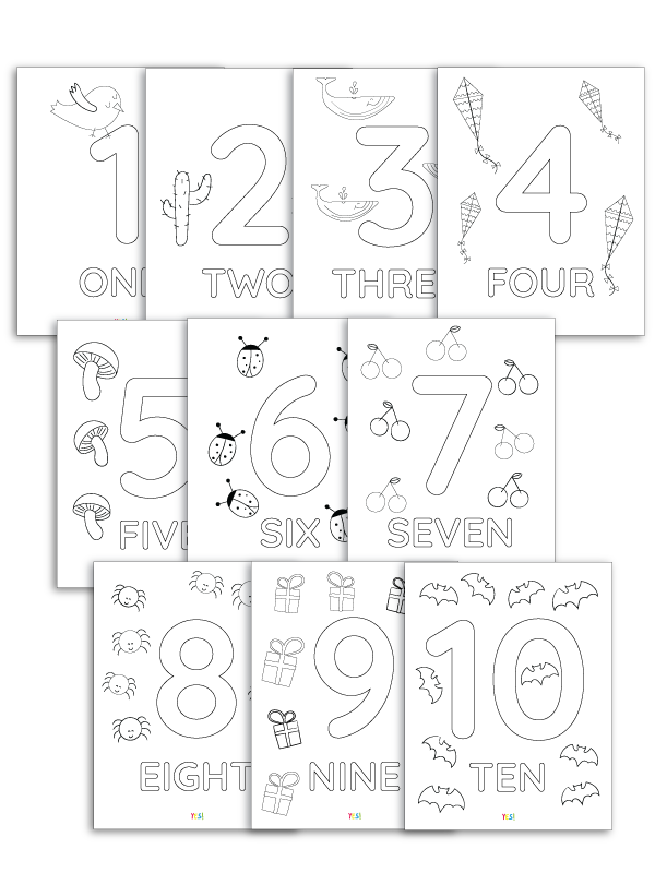1 10 Printable Numbers Coloring Pages Yes We Made This Printable Numbers Kids Learning Numbers Free Printable Numbers