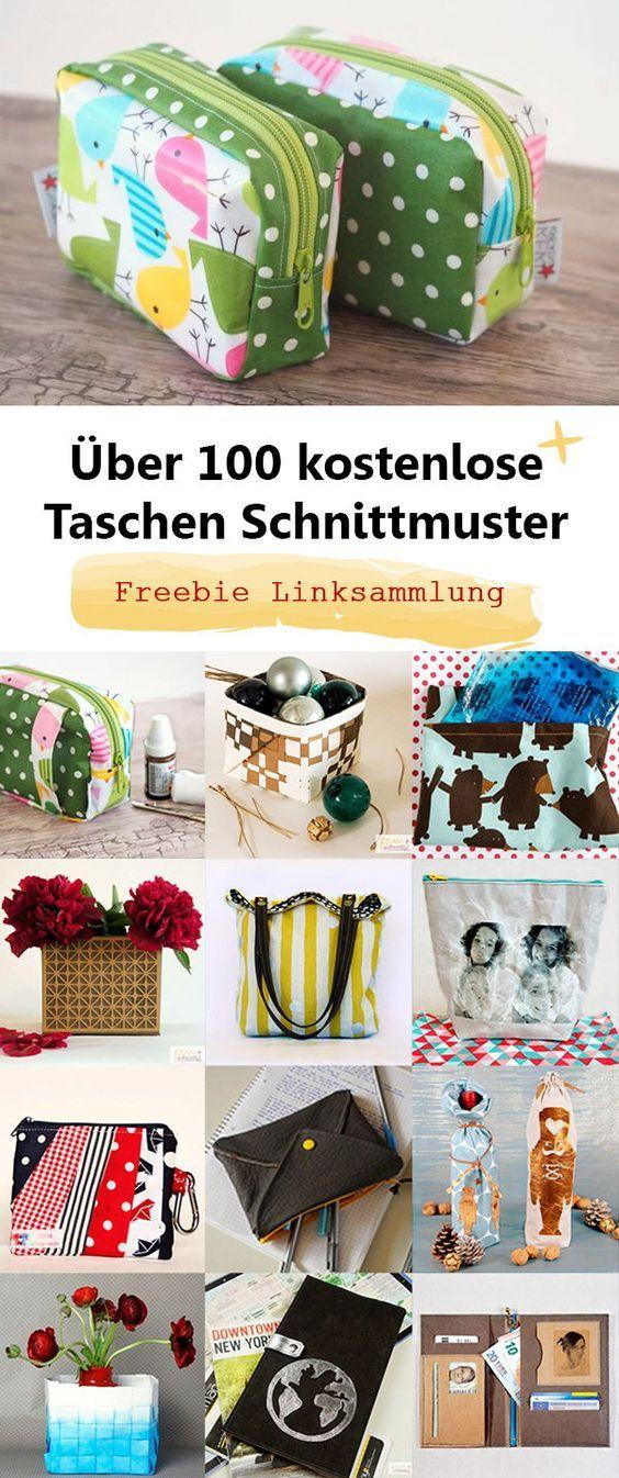 Plus de 100 patrons de couture gratuits pour sacs – Mme Scheiner   – Nähen