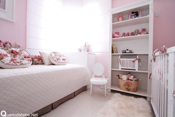 decoracaoquartobebefemininorosajpg (576×384)  Bedrooms  Pinterest  Mo