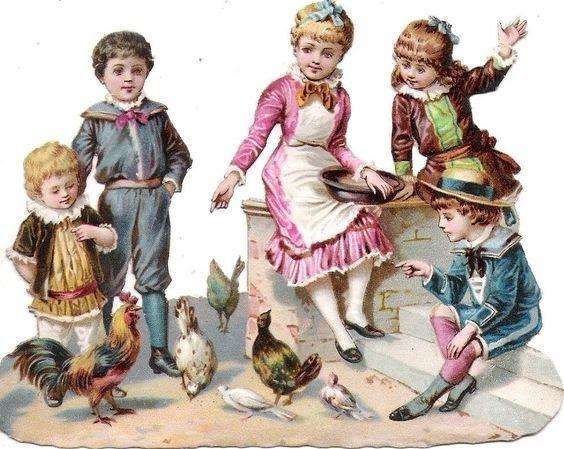 Glanzbilder - Oblaten -Victorian Die Cut - Victorian Scrap - Tube Victorienne - Glansbilleder - Plaatjes