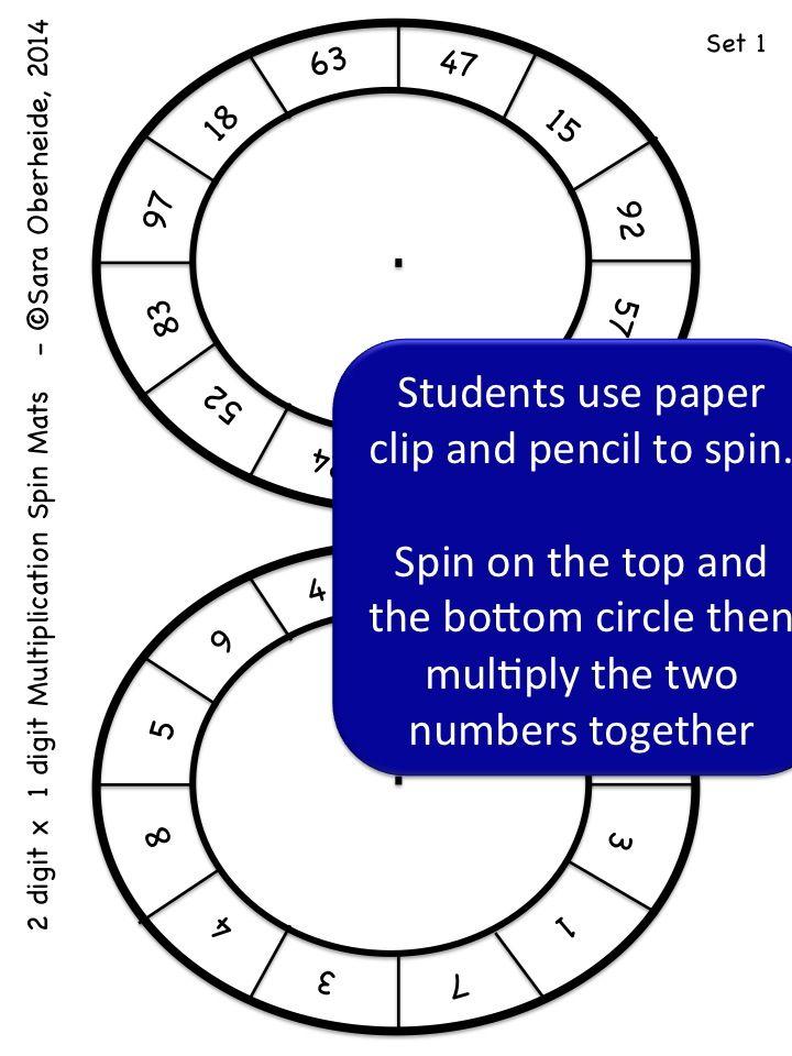 Multi-Digit Multiplication Spin Mats | Multiplication ...