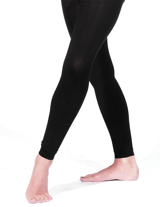 884a3bcbb1a57 Black matt footless dance tights. Papillon Microfibre Tights PA6011 ...
