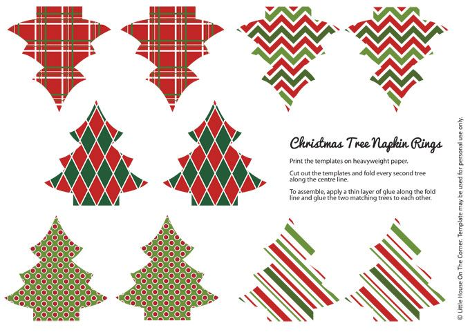 photo relating to Printable Napkin Rings identified as Do-it-yourself Xmas Napkin Rings (Cost-free Printable) Informative elements