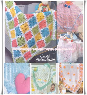 Ideas para el hogar: Colecciones de mantillas crochet y dos agujas con ...