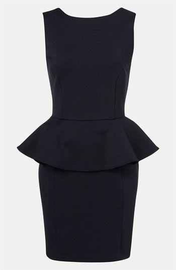 Perfect Little Black Dresspshop Ribbed Peplum Dress Available