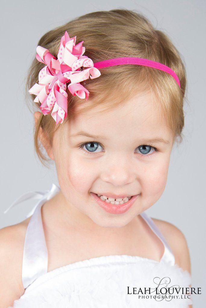 Newborn Hot Pink Skinny Baby Headband With 2