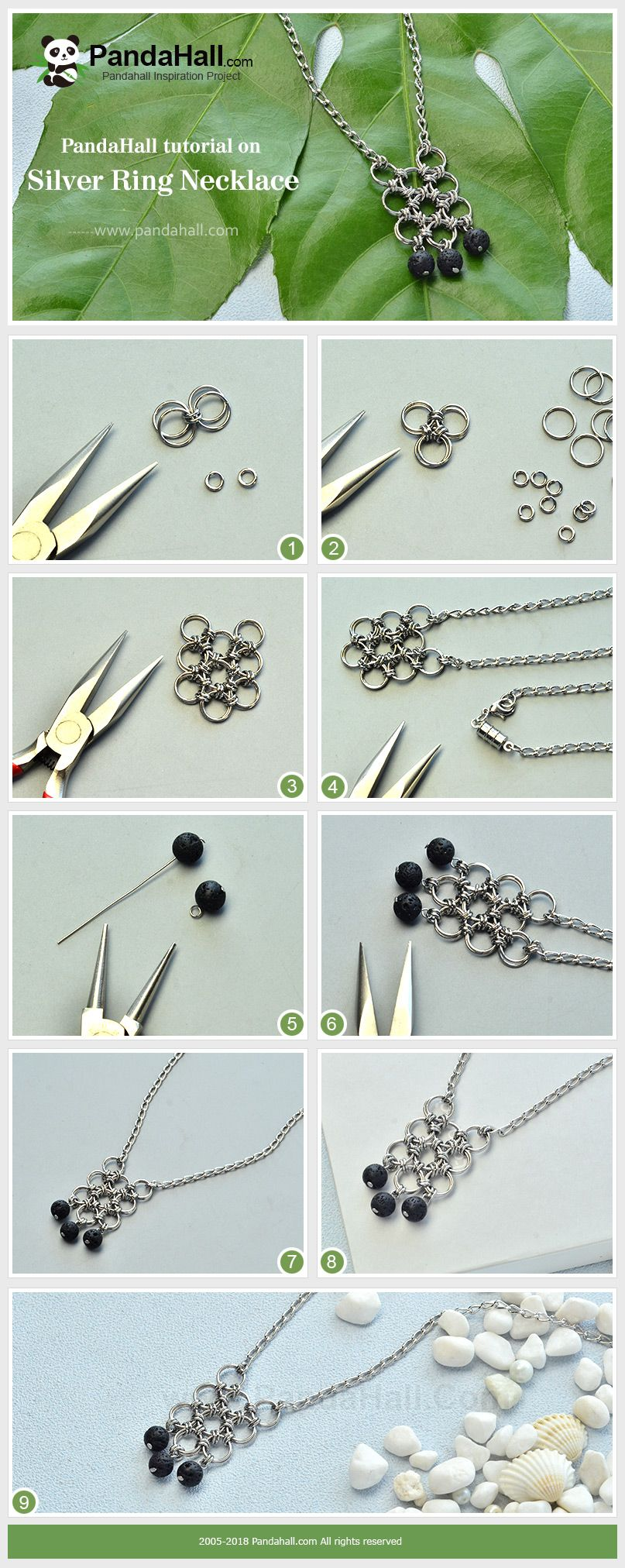 Beebeecraft tutorial on Silver Ring #Necklace | Beads | Pinterest ...