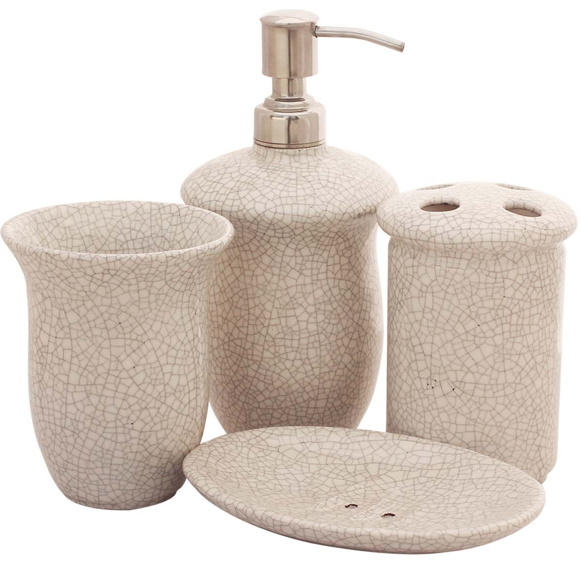 Bulk Wholesale Handmade Ceramic Bath Accessories Set (3 Items