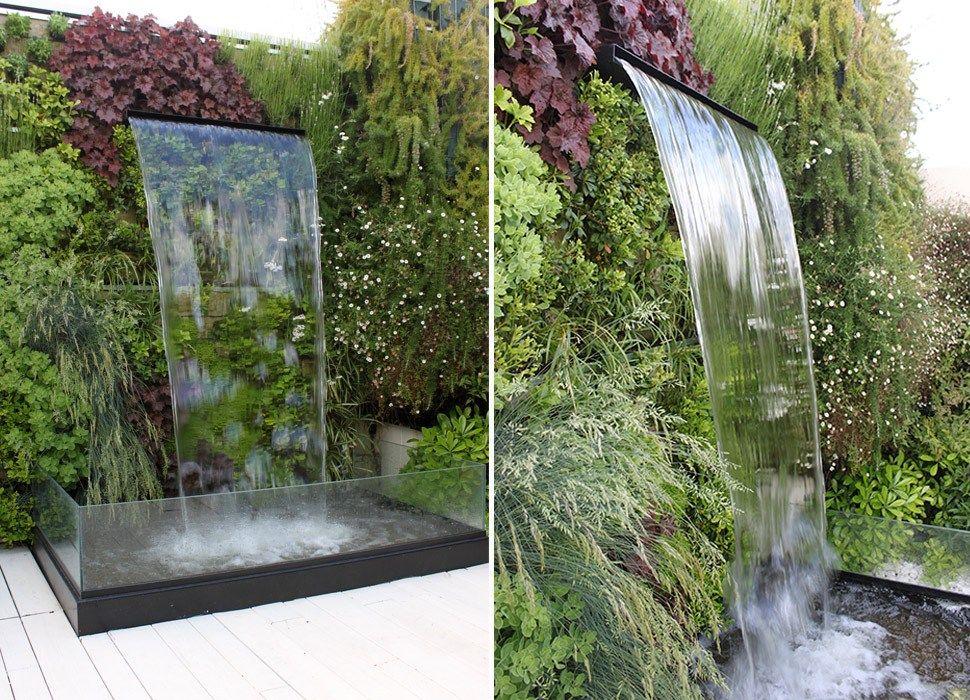 Fuente de tipo cascada by La Habitación Verde paisajismo casa - fuentes de cascada