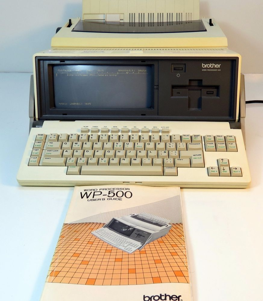 Vintage Rare 1980s Brother Word Processor WP-500 Tested w  Original Manual   Brother 02272197b3