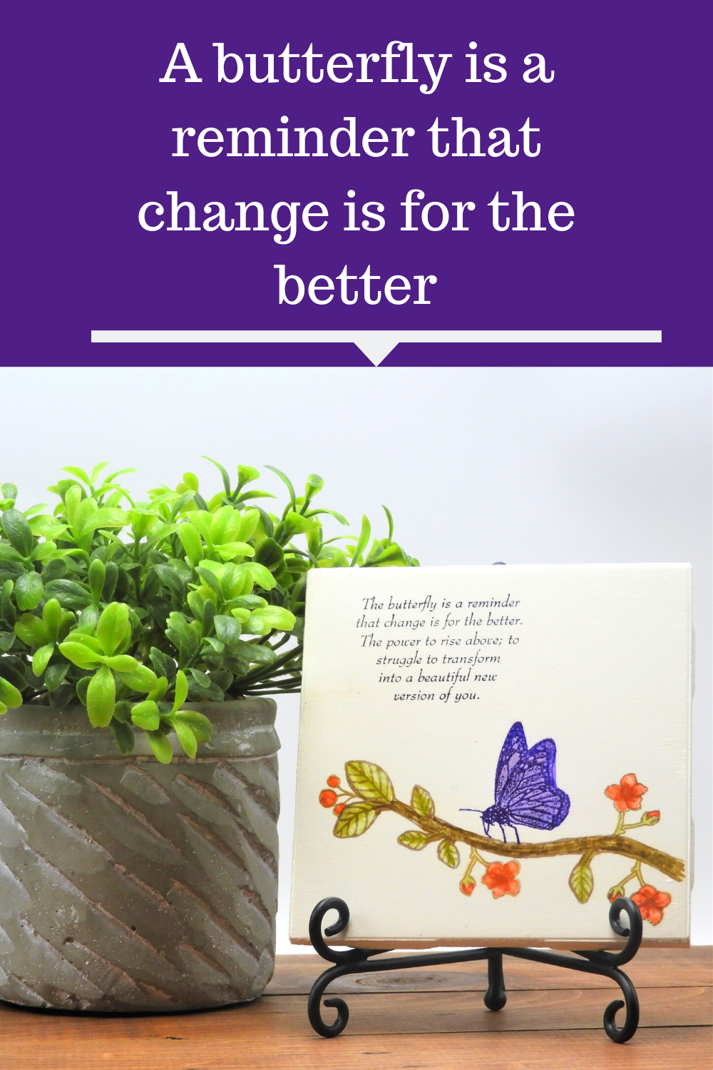 Purple Butterfly With An Inspirational Quote In 2020 Scripture Gift Inspirational Quotes Dragonfly Art