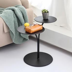 Modern Stylish Black Side Table With 2 Shelf Round End Table Metal Black Side Table White Side Tables Side Table