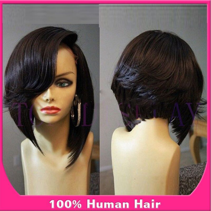 Short Stacked Bob Black Women Front Wigs For Black Women All - Bob hairstyle wigs