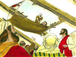 Jesus Friends Hole In Roof Heal Friend On Mat Google Search Jesus Heals Paralyzed Man Jesus Heals Paralyzed Man
