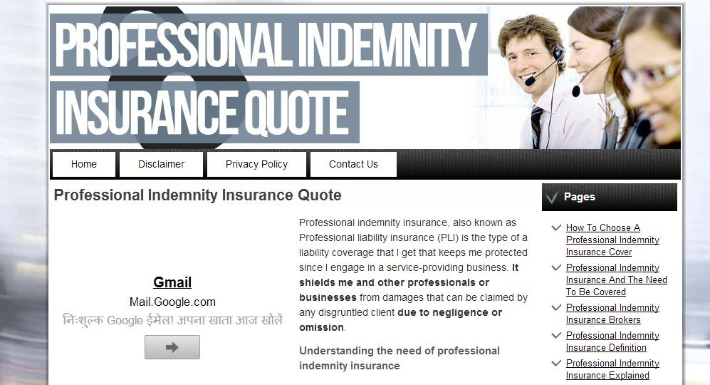 Insurance Adviser Insurance Quotes Professional Indemnity