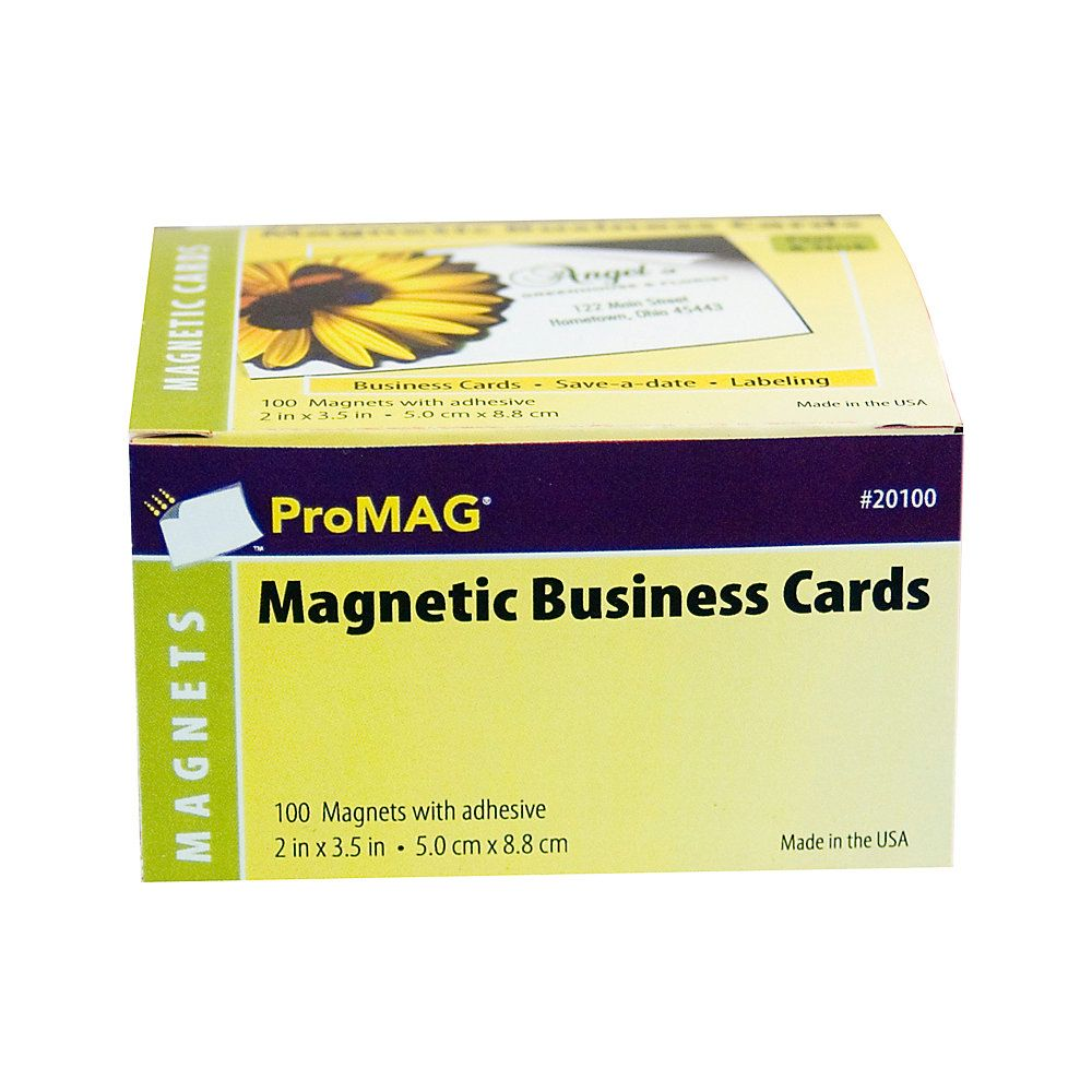 Promag magnetic business cards 2 x 3 12 pack of 100 item promag magnetic business cards 2 x 3 12 pack of 100 colourmoves