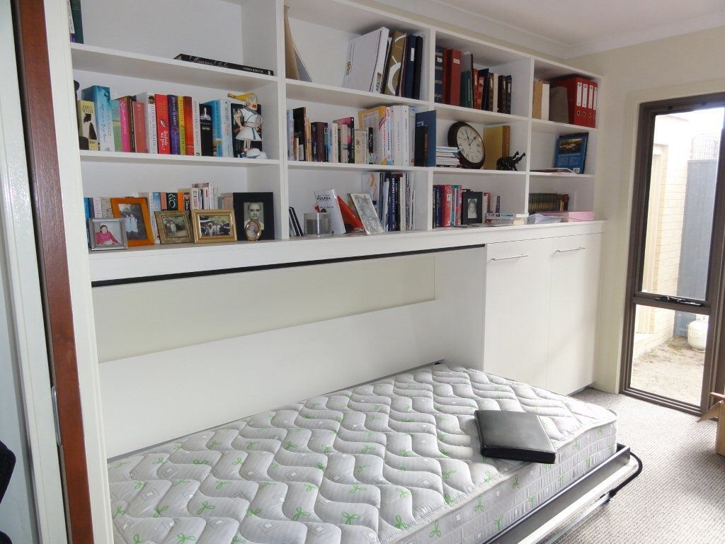 Tiltaway Beds Open Horizontal Tiltaway Bed With Surrounding Bookcase Tilt Away