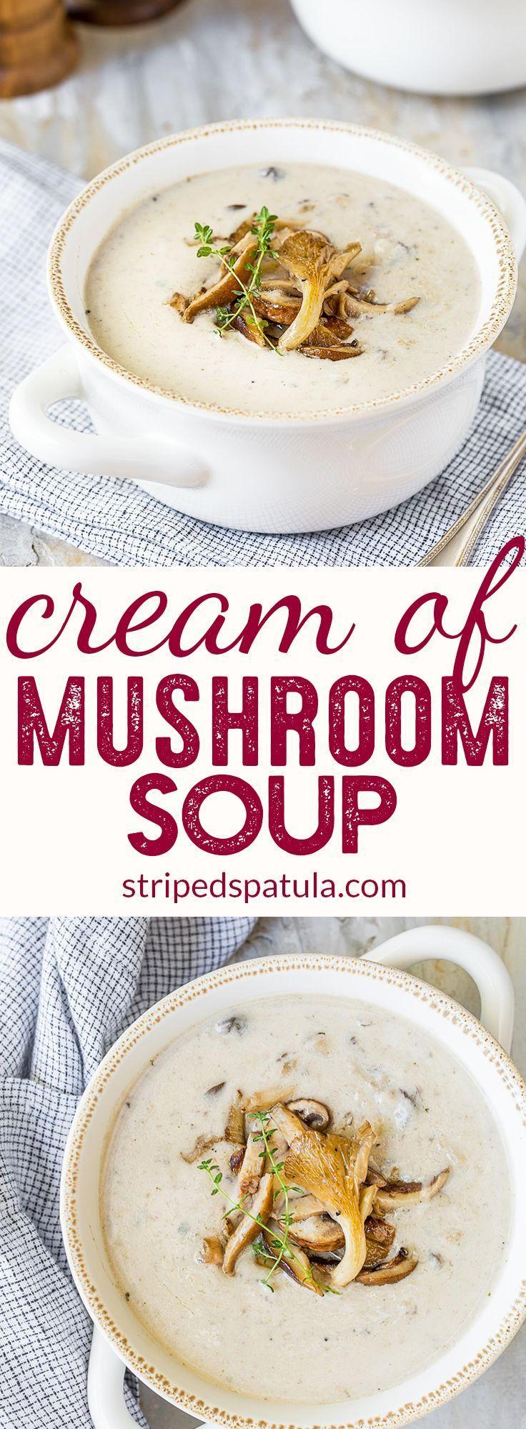 Homemade Cream of Mushroom Soup   Soup Recipes   Fall Soups   #creamofmushroomsoup #mushrooms #mushroomsoup