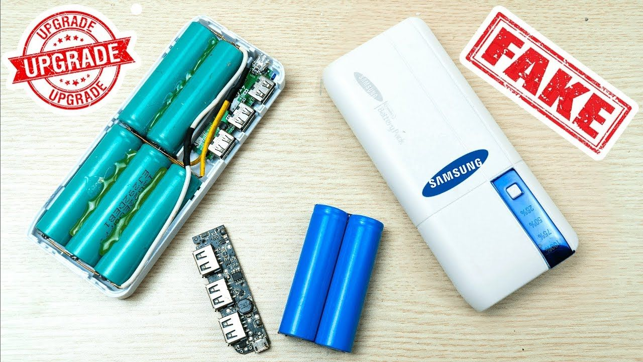 Upgrade Chinese Fake Power Bank With Scrap Laptop Battery Coke Bottle Crafts Powerbank Diy Speakers