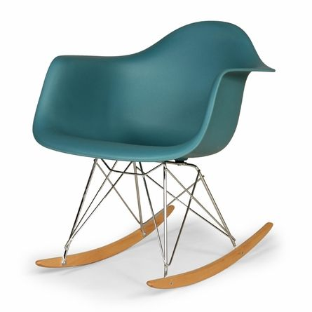 Sapphire Mid-Century Rocking Chair with Arms