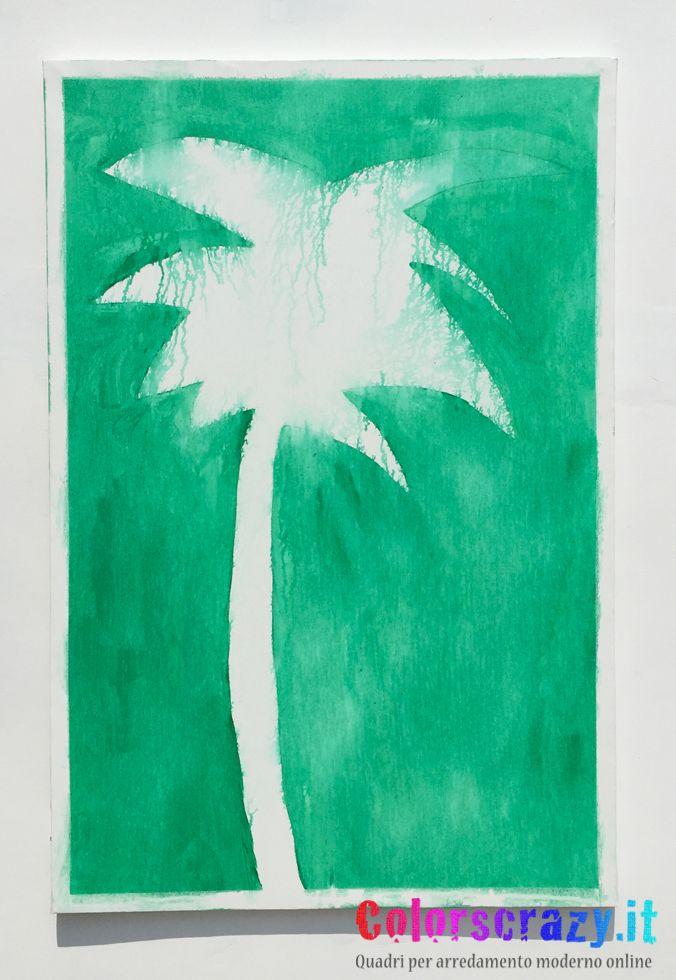 Palma Mario Schifano 80 x 120 cm. Acquista su www.colorscrazy.it