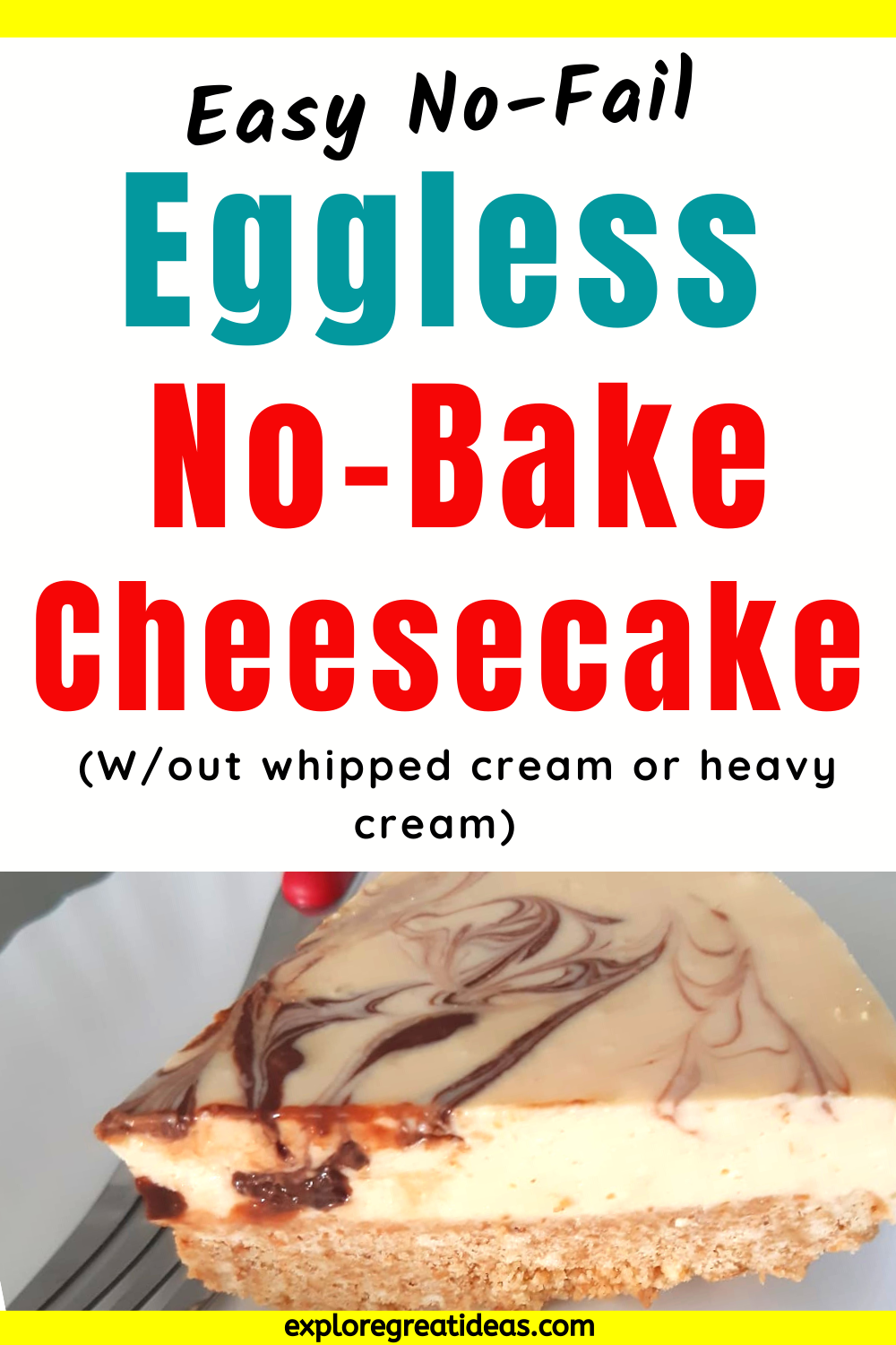 No Bake Cheesecake Without Whipped Cream Recipe In 2020 Easy Cheesecake Recipes Baked Cheesecake Recipe Dessert Recipes Easy