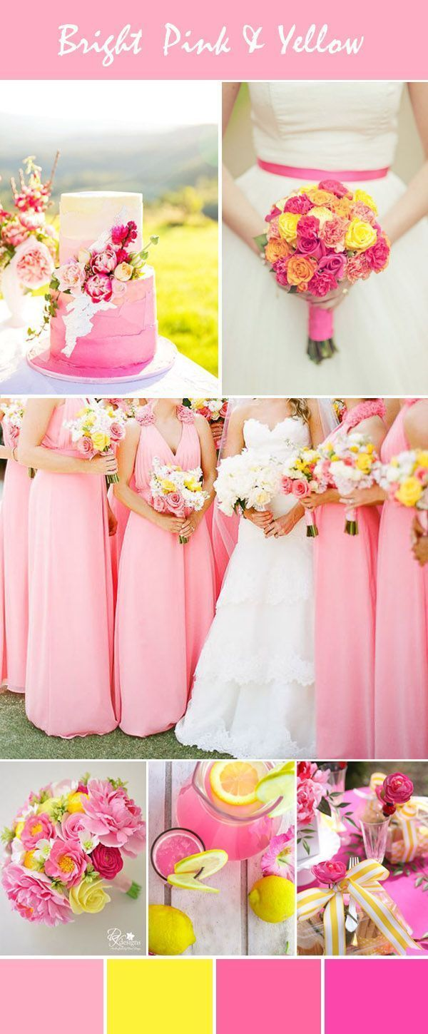 Best Pink And Yellow Wedding Ideas Gallery - Styles & Ideas 2018 ...