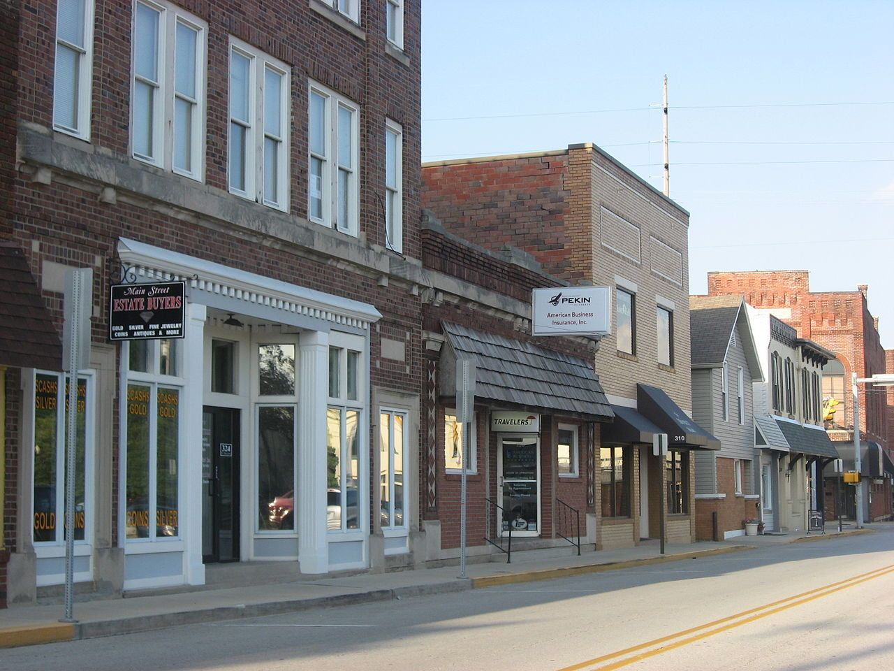 Greenwood Commercial Historic District in Johnson County