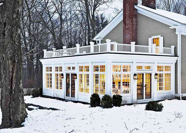 Outside In House Of Earnest Old Farm Houses Sunroom Designs My Dream Home