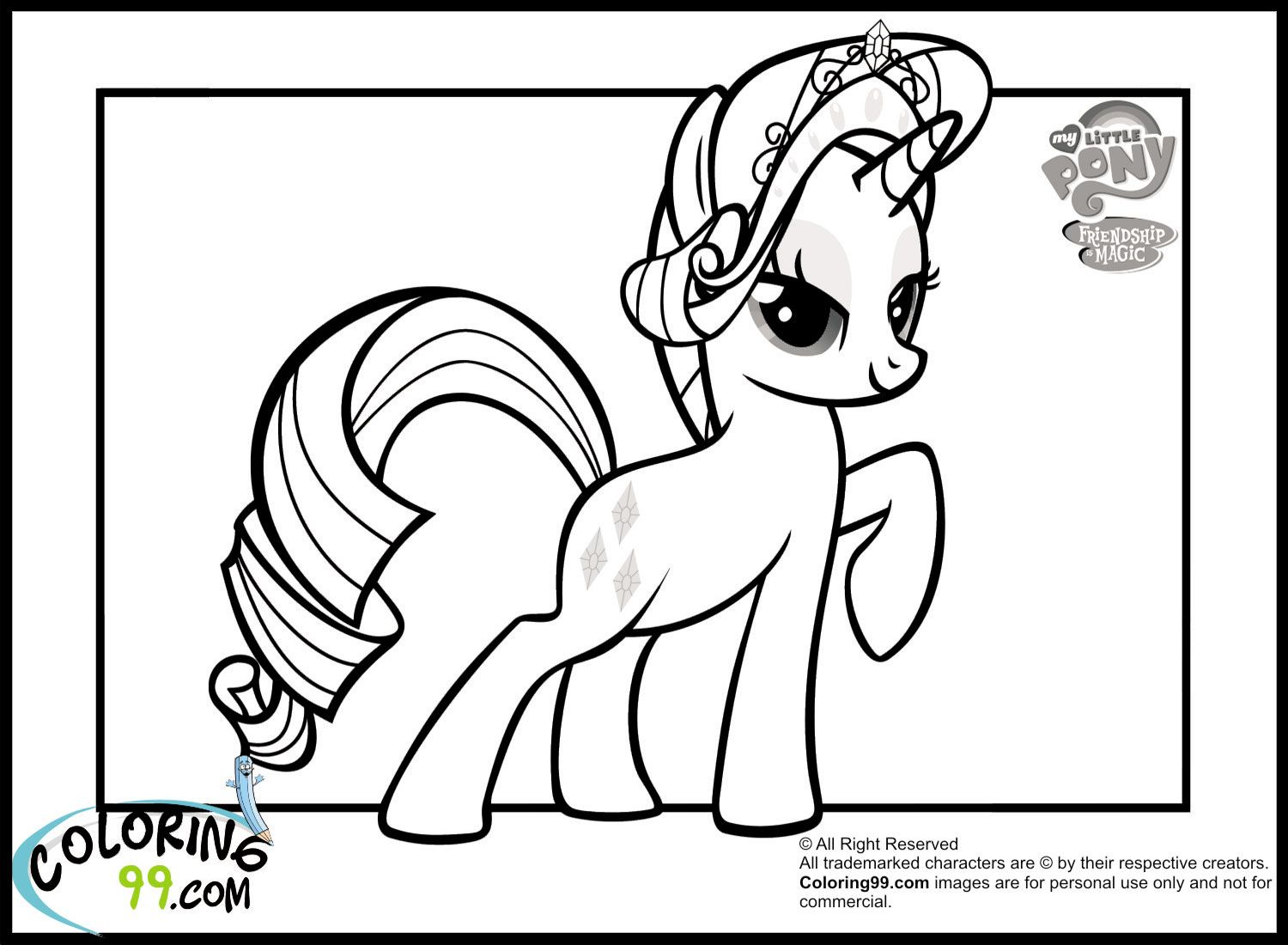 My little pony friendship is magic coloring pages free printable
