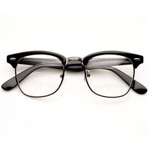 Amazon.com  FRAMEWORK - Vintage Inspired Classic Clubmaster Nerd Wayfarers  UV400 Clear Lens Glasses 84d60f9ae0