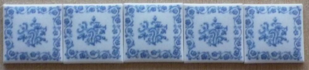 Delft Blue Liverpool 17th century very rare Ceramic Wall Tile Handmade in the UK 1 12th scale Ceramic Wall Tile for Dollhouse and other scale models