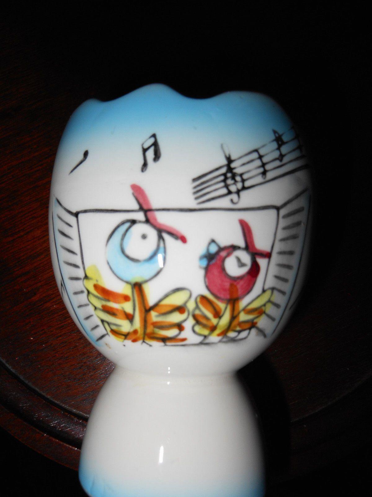 Adorable Vintage Japan Ceramic Egg Cup with Birds Singing Easter | eBay