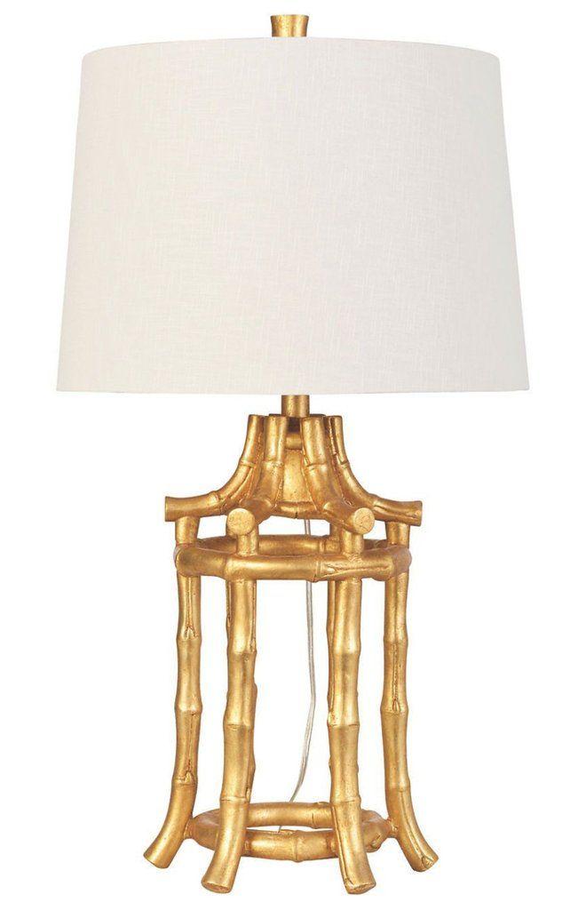 Chinoiserie Gold Bamboo Lamp Bamboo Lamp Lantern Table Lamp Bamboo Lantern