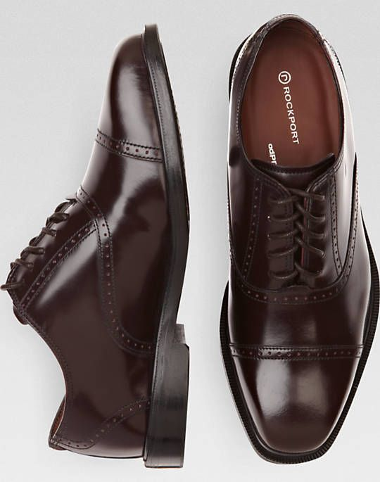 Rockport Fair Oaks Burgundy Cap Toe Lace Up Shoes