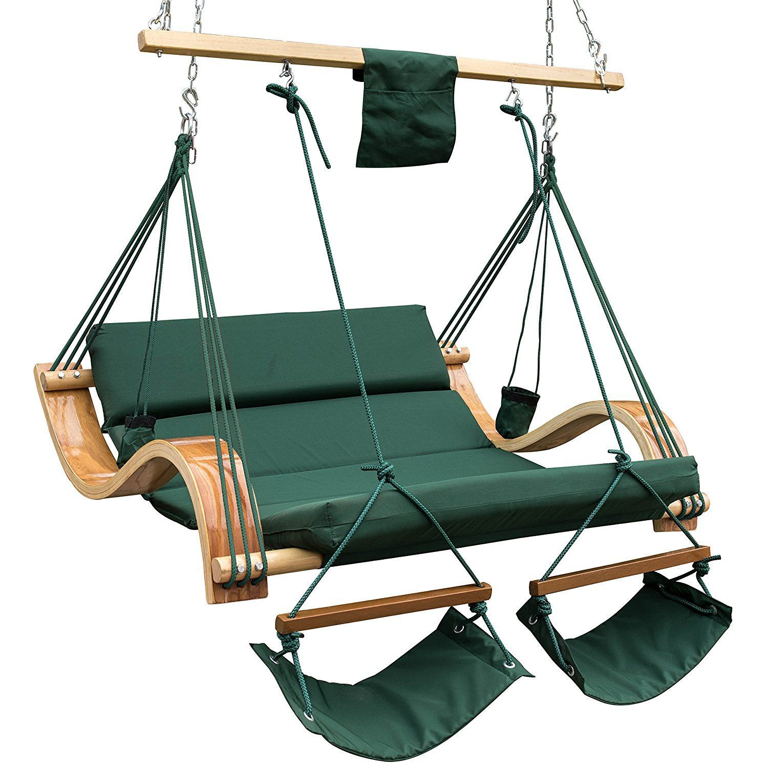 Two Person Deluxe Hanging Hammock Lounger Hanging