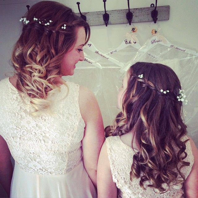 Hair by me #bridesmaids #curls