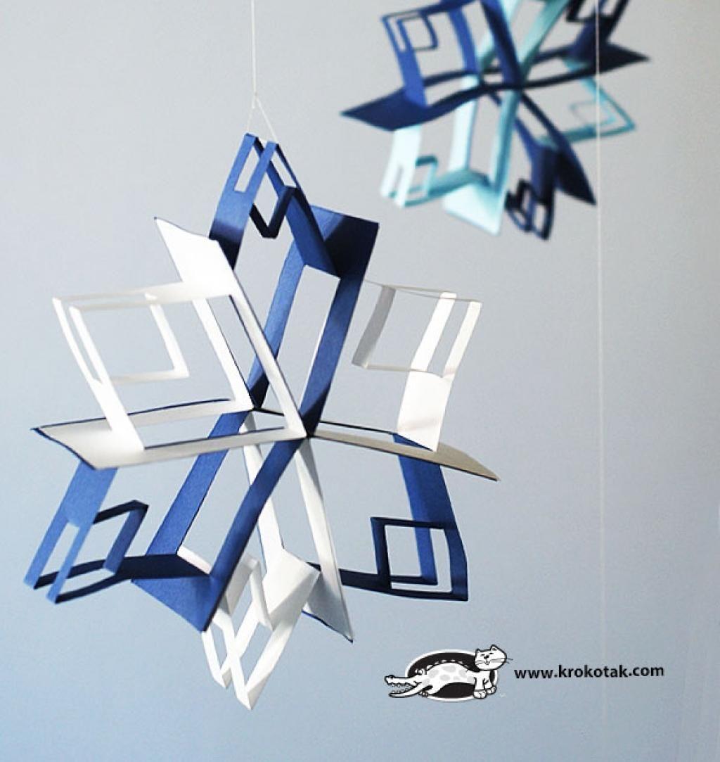 fabriquez des flocons de neige en 3d une illusion incroyable christmas okay diy christmas. Black Bedroom Furniture Sets. Home Design Ideas