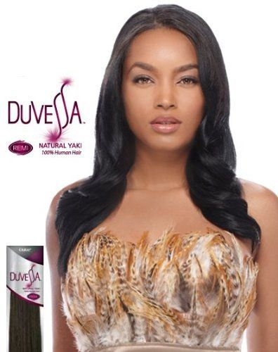 outre duvessa 100 remi human hair weave natural yaki 10 inch 2 dark brown by outre 44. Black Bedroom Furniture Sets. Home Design Ideas