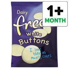 Dairy Free White Chocolate Buttons 25g Groceries Tesco