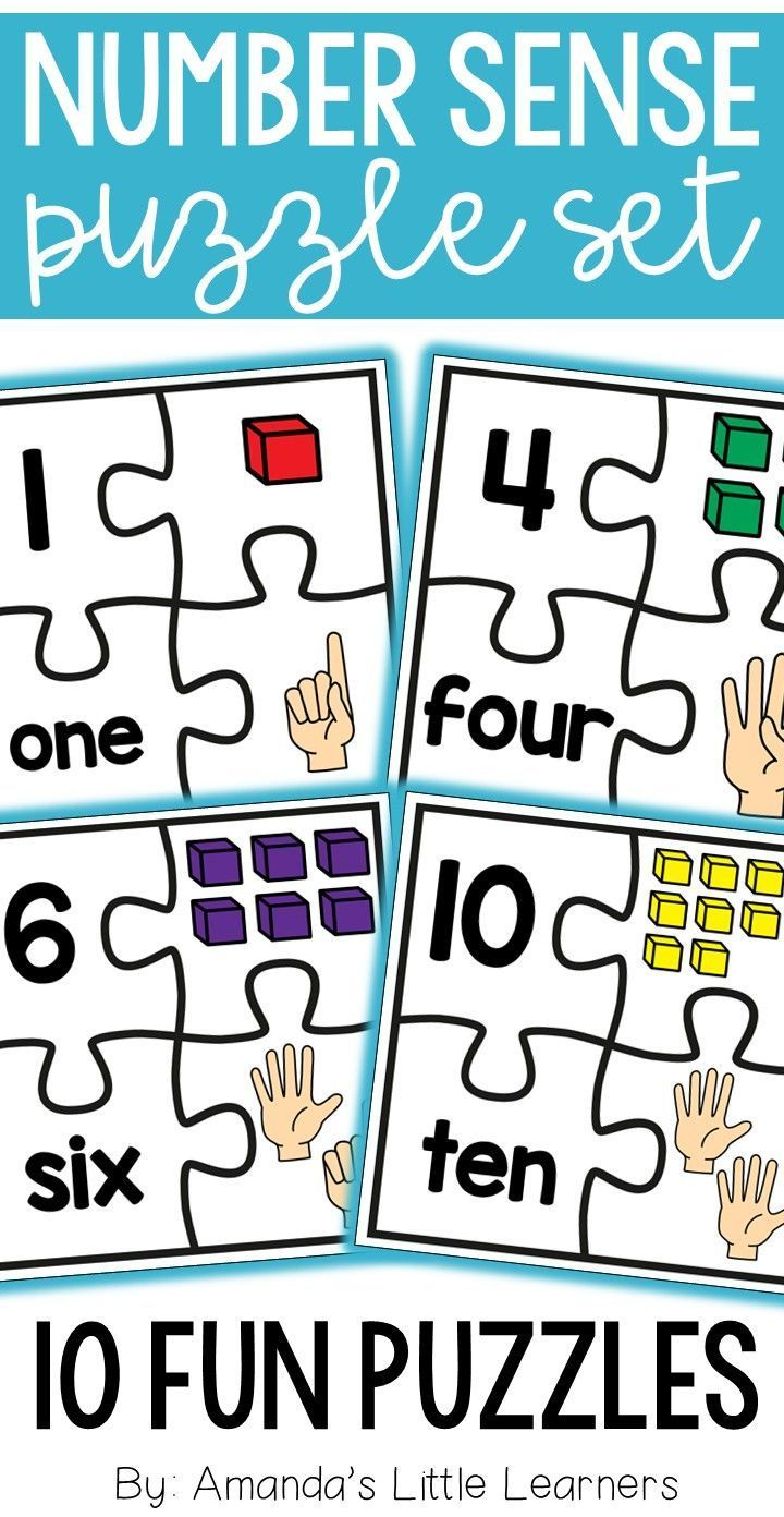 Number Sense Puzzles 0-20 | Number words, Puzzle pieces and Number