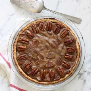 Salted Caramel Pecan Pie without Corn Syrup