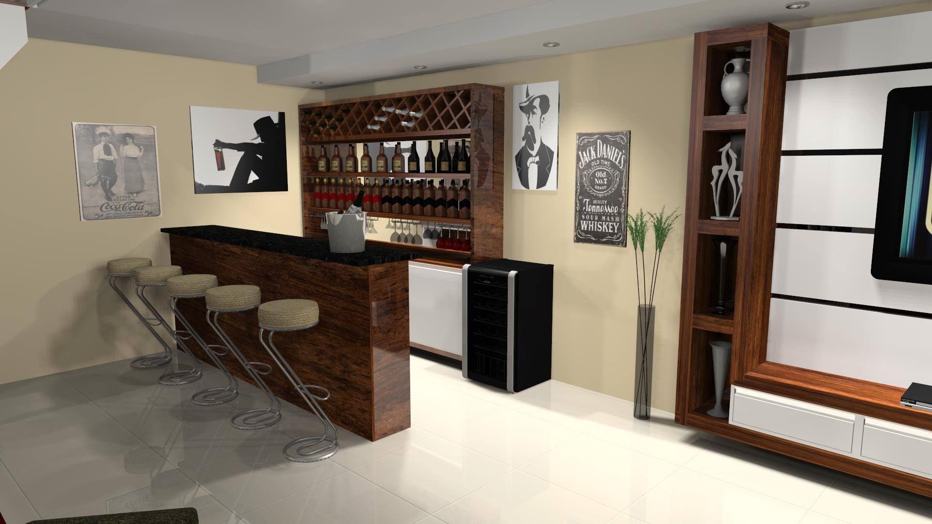 Sala de estar com bar pesquisa google casa pinterest for Idea sala de estar cuadrada