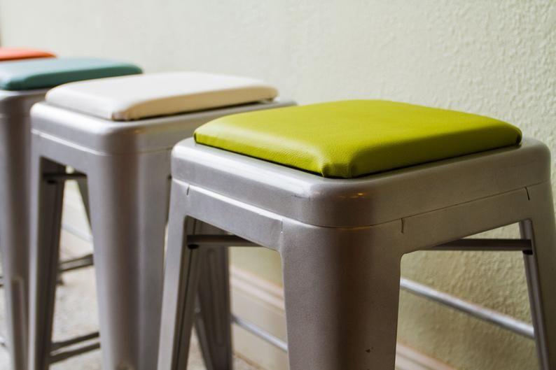 Square Stool Cushion For Metal Industrial Modern Farmhouse Etsy In 2020 Metal Stool Bar Stool Cushions Stool Cushion