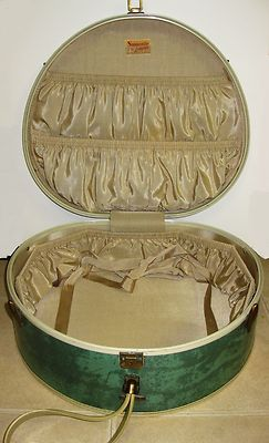 Samsonite 5120 Vintage Round Train Case Luggage Suitcase Bermuda Green Hat Box Ebay Suitcase Luggage Green Hats Luggage
