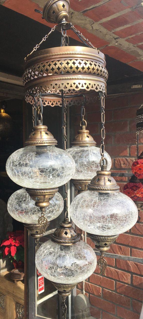 Glass chandelier cracked glass lamp turkish lamps handmade lamps glass chandelier cracked glass lamp turkish lamps handmade lamps 5 bulbs turkish aloadofball Choice Image