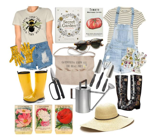 """""""Time to Garden!"""" by the-thewalrus on Polyvore featuring Monki, H&M, Nicole Miller, Kamik, Magpie, V&A, Levtex, OXO, blomus and Chronicle Books"""