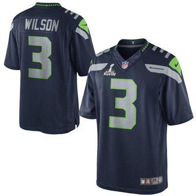 bd082d1e Nike Russell Wilson Seattle Seahawks Super Bowl XLVIII Limited ...
